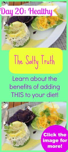 Something to be happy about SALT is NOT the enemy in FACT, when it is NOT coming from processed foods there are a TON of health benefits with the right kind! Click the image to learn more: