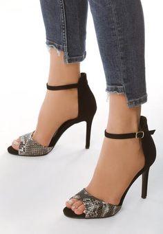 c177bb11c2d015 Damskie eleganckie sandały. Model o oryginalnej budowie. Pięta ...
