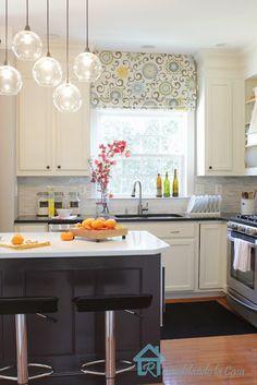 Kitchen Makeover - stunning (love the light fixture)!