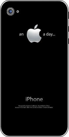 iTattoo.com: An Apple a Day, iPhone Sticker Decals, $19.99