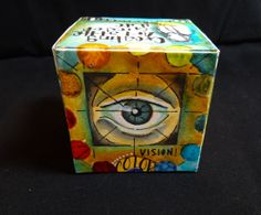 Artist Trading Block designed by @PamCarriker Click through to see Pam's amazing art inside and out of this #StencilGirl #ATB