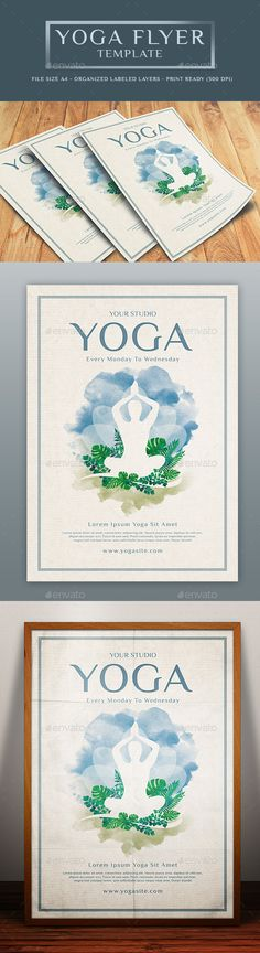 yoga class event flyer poster template fitness events pinterest template 3 and yoga. Black Bedroom Furniture Sets. Home Design Ideas