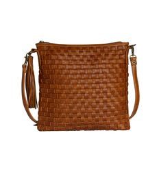 The Alexa in Toffee Leather Weaving, Brass Hardware, Toffee, Antique Brass, Leather Bag, Shoulder Strap, Hand Weaving, Bags, Collection