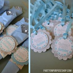 Snowflake Birthday Party Decorations Package