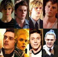 Who's your Favorite Evan Character in AHS? Definitely can't wait for his Season 7 role. he looks fierce and gorgeous! Follow rickysturn/evan-peters