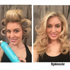 33 ideas how to curl your hair with a curler tutorials velcro rollers Curled Hairstyles, Pretty Hairstyles, Roller Set Hairstyles, Velcro Rollers, Medium Hair Styles, Long Hair Styles, Large Curls, Pageant Hair, Hair Setting