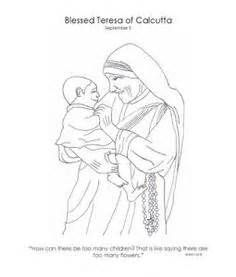 mother teresa coloring pages for kids sketch template
