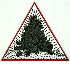 Keith Haring - A Pile of Crowns for Jean-Michel Basquiat, 1988