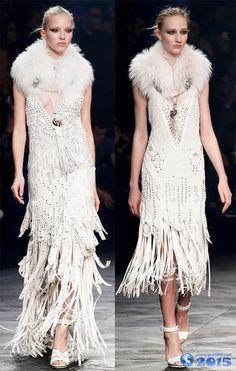 Платья с бахромой Cavalli