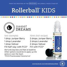 Kids essential oil roller bottle recipe: sweet dreams!