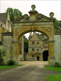 Inspiration for large manor house and stone color.  (Original image of Stanway House, Gloucestershire.)
