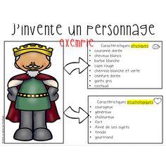 J'invente un personnage Document pour travailler les caractéristiques et la description d'un personnage dans le processus d'écriture. Penelope, Document, Homeschool, Grey Gloves, Red Shirt, Golden Crown, Primary Education, Notebook, Homeschooling