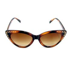 Tort Starlet Cat Sunglasses:Get ready for your close up with these starlet cat eye sunglasses! These are all brown tortoise shell with bronze colored studs in the corners. UV 400 $10.99