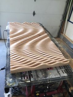 Large Wooden Wall Art, Parametric Sculpture, Wood Sculpture, Modern Art, Abstract Art Ask a question VAT included (whe…This parametric wall wave is a visually intriguing piece of wall art. Comprised of 47 individually cut pieces of cabinet grade oak ply Wooden Statues, Wooden Wall Art, Wooden Walls, Large Wall Art, Modern Sculpture, Wood Sculpture, Wall Sculptures, Sculpture Garden, Wood Projects