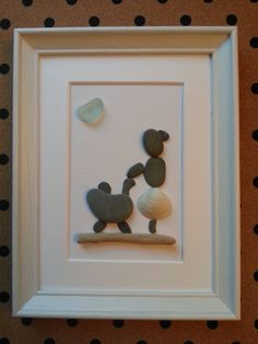 Handmade PEBBLE Art Frame, Girl or Lady Walking with her Newborn Baby, Driftwood, Seaglass, Seashell, Unique Gift Idea, Mummy, Mother, Mum by CristinasQuirkyCraft on Etsy
