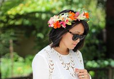 Honestly WTF's DIY Floral Crown is the Perfect Bohemian Accessory #coachella trendhunter.com