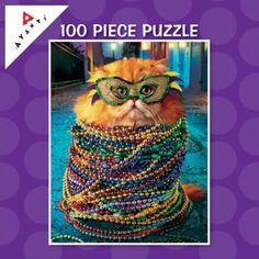 Mardi Gra Kitty!  So cute with the glasses!  LOL
