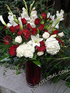 Flowers, White, Red, Ceremony, Black