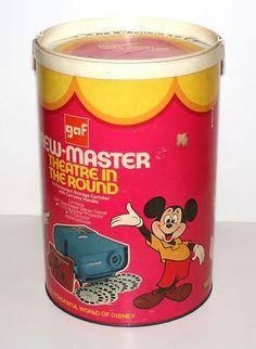 "Vintage Walt Disney 12"" High View Master Cardboard Container No Contents | eBay"