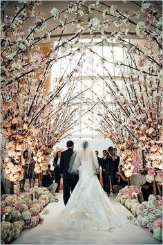 Trees in the Chapel..think the Royal Wedding. Follow us @SIGNATUREBRIDE on Twitter and on FACEBOOK @ SIGNATURE BRIDE MAGAZINE