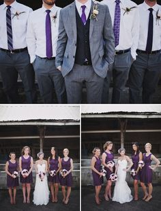 My wedding colors, to be hubby loves purple so this is a great compromise.