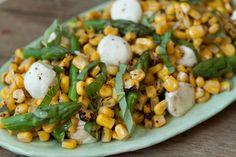 Asparagus, Basil and Corn Salad