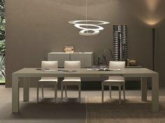 Table Oqui extensible ovale 140-220 cm, naturel et blanc