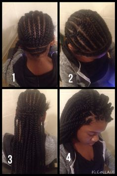 The installation process for crochet braids. #JumboSenegaleseTwists ...