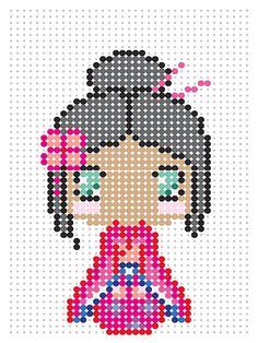 Kimono girl inspired by @icaaaxo