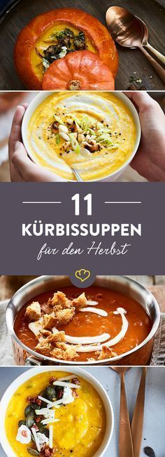 11 cremige Kürbissuppen für kalte Tage If pumpkin has season, it means: to the soup bowl, finished, spoon! With these 6 recipes you provide enough variety in the soup pot. Vegetable Soup Healthy, Vegetable Stew, Vegetable Dishes, Vegetable Recipes, Potato Recipes, Soup Recipes, Vegetarian Recipes, Healthy Recipes, Creamy Pumpkin Soup