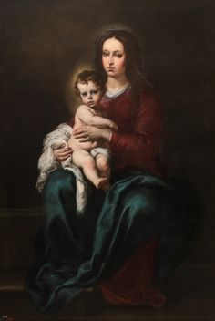 Oil Painting 'Murillo Bartolome Esteban La Virgen Con El Nino 1655 20 x 29 inch / 51 x 74 cm , on High Definition HD canvas prints is for Gifts And Bath Room, Kitchen And Powder Room decor, huge >>> Continue to the product at the image link. Lady Madonna, Madonna And Child, Blessed Mother Mary, Blessed Virgin Mary, Catholic Art, Religious Art, Catholic Saints, Roman Catholic, Esteban Murillo