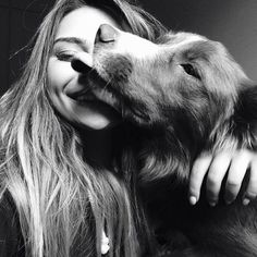 - Dogs - Dog Love More Powerful Than Partner Love? You Might Be Surprised Dog Lovers Might Show Affection More To Pooches Than Partners. Black And White Dog, White Dogs, Photos With Dog, Dog Pictures, Tumblr Photography, Animal Photography, Surprised Dog, Dog Tumblr, Golden Retriever