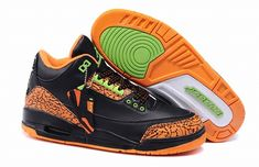 huge discount 79834 7e8a0 Buy New Air Jordan 3 Black-OrangeElectric Green Shoes Store