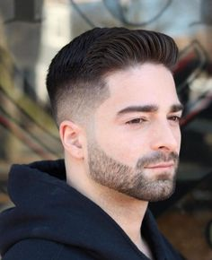 11 Of The Luminous Short Quiff Skin Fade Haircut Styles For Top Coolest Quiff H Short Hair With Beard, Curly Hair Men, Short Hair Cuts, Short Hair Styles, Curly Short, Men Short Hair, Modern Mens Haircuts, Stylish Haircuts, Haircuts For Men