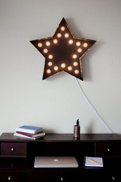 "Vintage Inspired Marquee Light Star by SaddleShoeSigns on Etsy, $175.00  Fantasy nursery ""nightlight"""