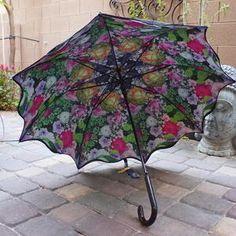 Unique Peonies Roses Umbrella Parasol Double Layer
