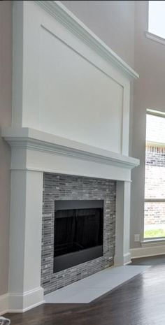 17 Stylish Fireplace Tile Ideas You Should Try for Your Fireplace fireplace_wall_tile_design_ideas<br> There many ways to decorate a fireplace. Using the proper tile is one. To help make your fireplace more attractive, we listed 17 fireplace tile ideas Fireplace Tile Surround, Fireplace Redo, Simple Fireplace, Farmhouse Fireplace, Fireplace Remodel, Brick Fireplace, Living Room With Fireplace, Fireplace Surrounds, Fireplace Design