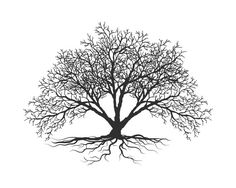 Tree Print Black and White Print Black and by NordicDesignHouse