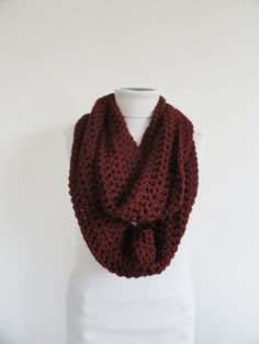 Hey, I found this really awesome Etsy listing at https://www.etsy.com/listing/160685922/marsala-extra-large-chunky-infinity