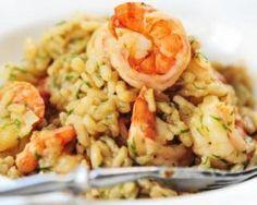 Risotto de crevettes au curry et basilic : http://www.fourchette-et-bikini.fr/recettes/recettes-minceur/risotto-de-crevettes-au-curry-et-basilic.html