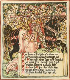 Walter Crane ~ Queen Summer, 1891**
