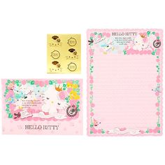 [hello kitty] box letterset ☆ thorn princess design series ★ email flight OK [RCP]