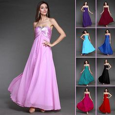 Stock Long Bridesmaid Dresses Cocktail Ball Gowns Party Evening Prom Dresses New