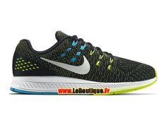 Nike Air Zoom Structure 19 - Chaussure de Nike Running Pas Cher Pour Homme Noir/Volt/Bleu lagon/Blanc 806580-010