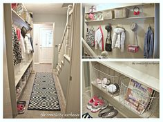 Tutorial for making a built in mudroom for a narrow hallway (The Creativity Exchange)