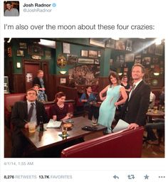 How I Met Your Mother last episode behind the scenes Best Tv Shows, Best Shows Ever, Favorite Tv Shows, Series Movies, Tv Series, Barney And Robin, How Met Your Mother, Call My Friend, Dead To Me