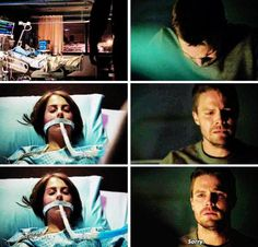 Oliver & Thea #Arrow #TheFallen His quite sorrys are always so heartbreaking