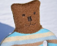 Baby's first teddy bear doudou ours soft teddy by ParisJavaDolls