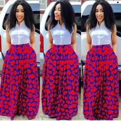 African Women, African Fashion, Ankara Skirt, Maxi Skirts, Rock Style, African Dress, Fashion Rocks, Victoria, Womens Fashion