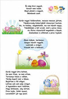 Hamarosan itt a húsvét: idén melyik locsolóverset tanulják meg a fiúk? Összegyűjtöttünk pár kedves, a kisebb gyermekek által is megtanulható húsvéti locsolóveset, ha szeretnéd ki is tudod nyomtatni és már mehet is a tanulás! Válasszatok kedvetekre. Happy Easter, Poems, Preschool, Easter Activities, Happy Easter Day, Poetry, Kid Garden, Verses, Kindergarten